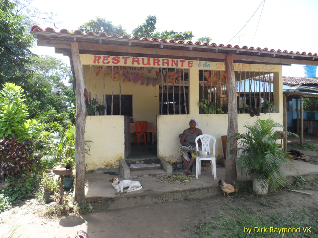 Restaurant at the Quilombo.